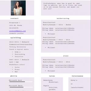 CV template Betty Mae
